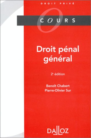 DROIT PENAL GENERAL. 2ème édition 1997