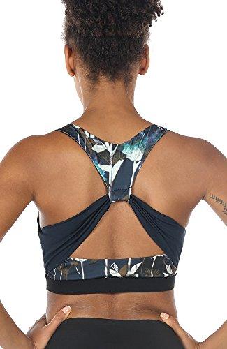 icyzone Damen Sport-BH mit Gepolstert Yoga BH Starker Halt Bustier Stretch Sports Bra Fuer Fitness-Training (Lotus, S)