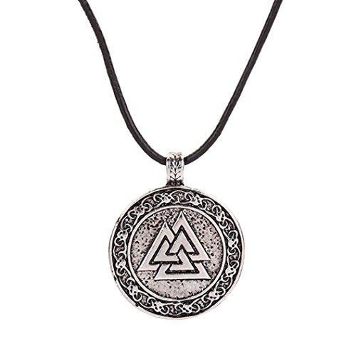 LCLrute Wikinger Halskette Tier Teen Vintage Viking Halsketten Schmuck Anhänger Supernatural Amulett Knoten (A) (Teens Schmuck)