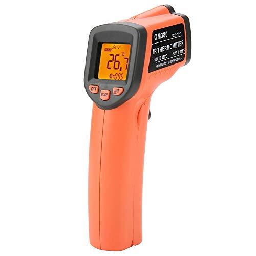 Semme Thermomètres numériques, thermomètre de température Infrarouge LCD numérique sans Contact pour poignées GM380 (-50~380 ℃)