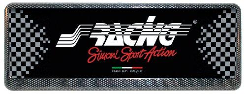 Simoni Racing PTX/4AC Portatarga Universale Anteriore con sistema antifurto, Carbon Look