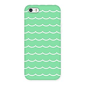 NEO WORLD Remarkable Green White Back Case Cover for iPhone 5 5S