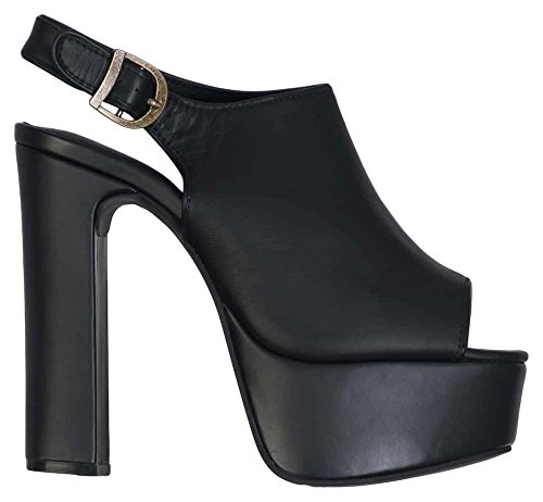 Jeffrey Campbell Jackpot Leather Scarpe con tacco a punta aperta, Donna, Nero, 39
