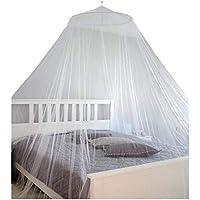 AMANKA Mosquitero Colgadura de Camas de Matrimonio para impedir Que entren Mosquitos Insectos 180 Mallas por 6,45cm² Tela mosquitera de poliéster 12m