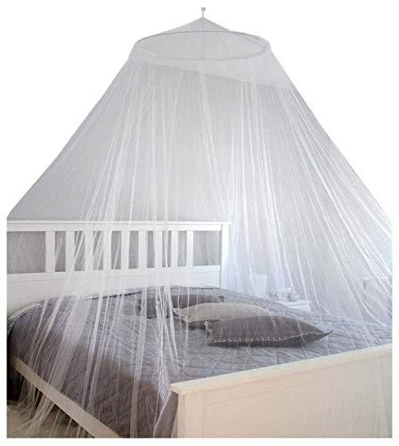 AMANKA XXL Moskitonetz 2,5 x 12 m Doppelbett Mückennetz Reise Betthimmel Weiß