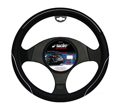 Simoni Racing SR CVT30 Housse de Volant, Cuir-Eco Noir, 37-39 cm