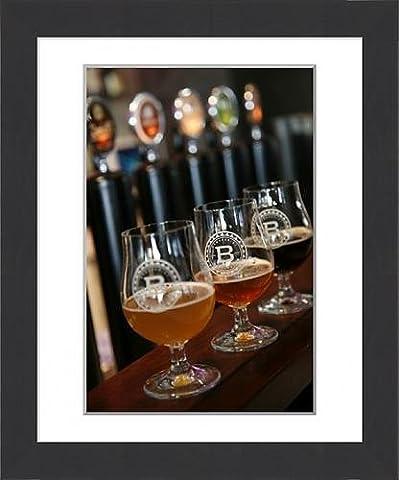 Framed Print of Beer glasses at the Broggeriet brewery in Sonderborg, Jutland, Denmark