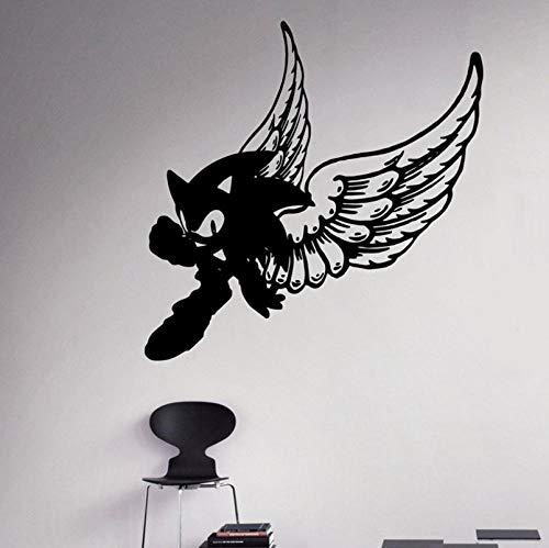 Qzheng Vinyl Applique Sonic Wand Vinyl Aufkleber Videospiel Cartoon Home Indoor Kinderzimmer Dekoration 60 * 60 Cm
