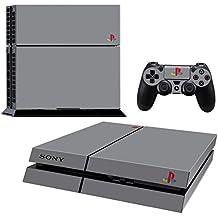 Pandaren® completos placas frontales Pegatinas de la piel para la consola PS4 x 1 y el mando x 2 (estilo PSone gris) [Instrucción en las listas de imágenes]