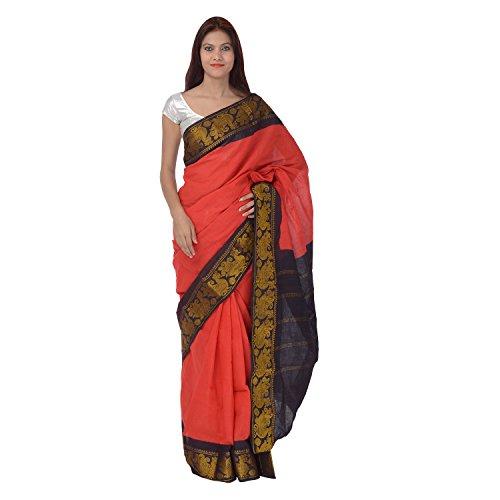 Saundarya Sarees Cotton Saree (59Hpkolsoctgr_Red)
