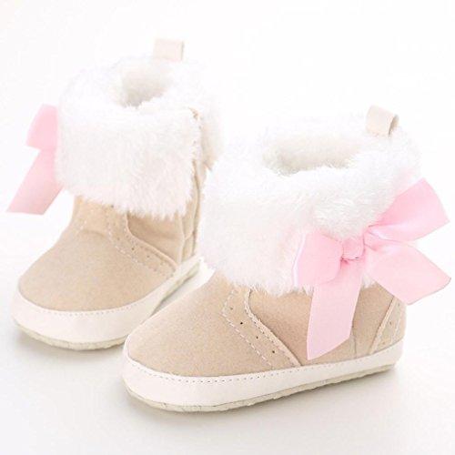 Hunpta Babyschuhe Mädchen Jungen Lauflernschuhe Baby Schneestiefel halten warme weiche Sohle weiche Krippe Schuhe Kleinkind Stiefel (11, Khaki) Khaki