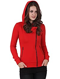 TEXCO WINTER COTTON POLYSTER FLEECE HOODED RED STYLEST JACKET