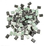 High Quality 100 Stück Kunststoff schwarz Kabelbinder Rechteck Kabelmontage Clip Clamp Selbstklebe