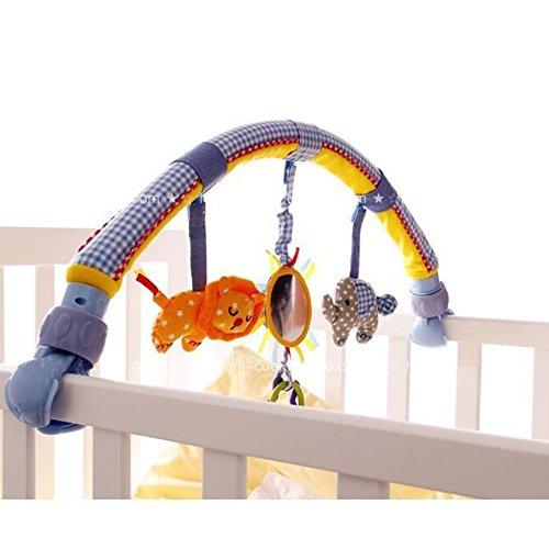 Highdas Baby-Bett / Krippen u. Buggy / Spaziergänger-Bogen Dual-use Hängen schließen ein Teether Musik-Plüsch-Spielwaren und Rassel (Elefant)