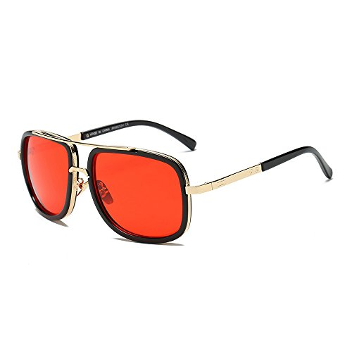 FRAUIT Unisex Mode Klassische Quadrate Metallrahmen Sonnenbrillen Herren Frauen Marke Polarisierte...