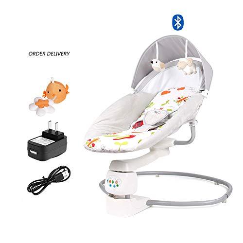 bis Kleinkind Tragbare Wippe Elektrische Wiege Liege, Baby-Bodensitz Schützt die Baby-Wirbelsäule, Fünf-Punkt-Sicherheitsgurt mit vibrierendem Baby-Türsteher ()