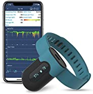 Wellue sleepU Wearable Wrist Blood Oxygen Saturation Monitor, Check Trends of O2 and Heart Rate on Mobile
