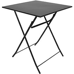 metall tisch 60x60cm anthrazit klapptisch falttisch campingtisch beistelltisch partytisch. Black Bedroom Furniture Sets. Home Design Ideas