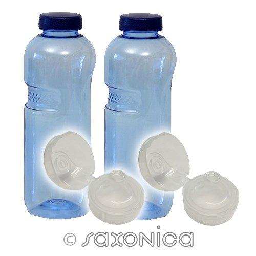 2er SET mit Sport-Deckel - Trinkflasche aus Tritan 1,0 Liter 410201 Sport Kinder Kavodrink BPA frei Wasserflasche