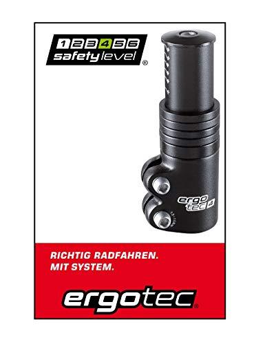 Ergotec Ahead 3 Vorbau-Adapter für Fahrrad und E-Bike | Safety-Level 4 | Schwarz
