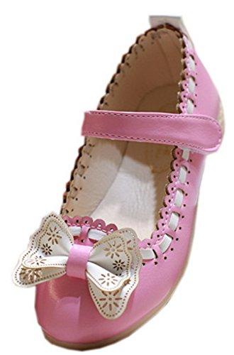 la-vogue-ballerine-sandales-souple-fille-princesse-noeud-papillon-bicolore-chaussure-ville