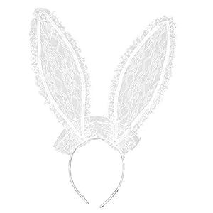 WIDMANN Orejas de conejo encaje blanco adulto - Única