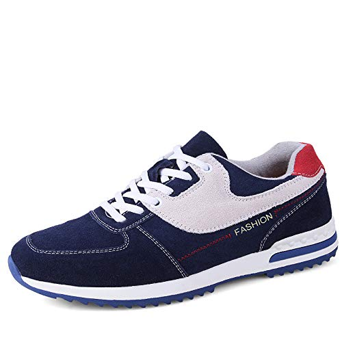 MH Scarpe da Ginnastica da Uomo, Scarpe da Corsa Scarpe da Tennis Moda Sneakers da Passeggio Calzature Sportive Traspiranti Taglia 38-42,Blu,41