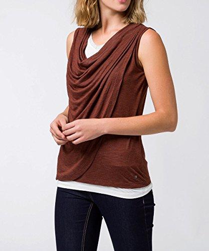 zero Damen Shirt mit Wasserfallausschnitt 403018 Amber