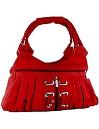 FourDatr Hand-held Frill Bag (Red)