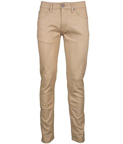Kayden K Skinny Jeans Herren Denim Pants (Khaki), Herren, Khaki, 36Wx32L -