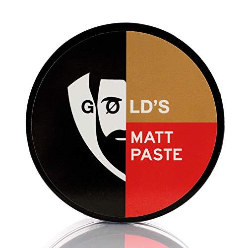 Gøld´s Matt-Paste (100ml) Bestes Haarwachs Mit Extrem Starken Halt & Matt-Finish, Haarwax Für Jeden Haartypen Geeignet