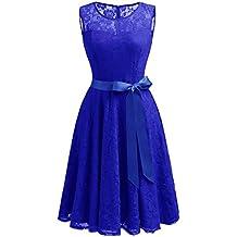 Kleid royalblau spitze