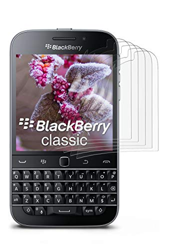5X BlackBerry Classic | Schutzfolie Matt Bildschirm Schutz [Anti-Reflex] Screen Protector Fingerprint Handy-Folie Matte Bildschirmschutz-Folie für BlackBerry Classic Q20 Bildschirmfolie