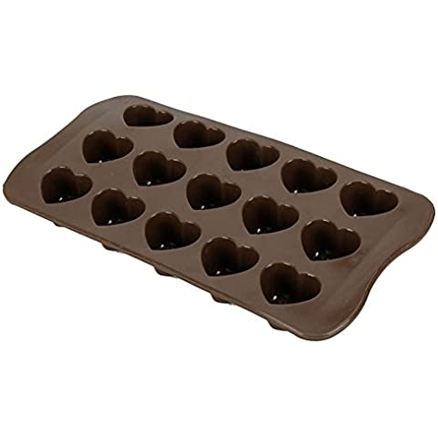 cosanter torta al cioccolato a forma di cuore di ghiaccio in silicone Jelly Candy stampo mini vassoio cubo (in forma di cuore) San