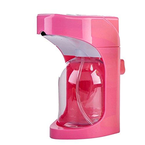 XUE- / Distributeur automatique de savon en mousse, activation sans toucher avec commandes de mousse ajustable Capacité de 500ML pour la cuisine (rose)
