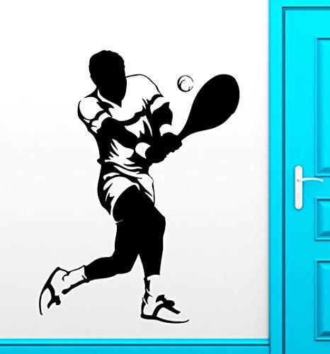 Sport Wandaufkleber Sport Tennis Spieler Fan Vinyl Aufkleber 56 * 88 Cm (Tennis-spieler)