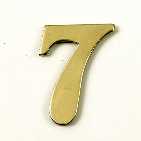 1.5 - 2 Inch Self Adhesive Numbers & Letters Polished Brass (Solid Brass) (7)