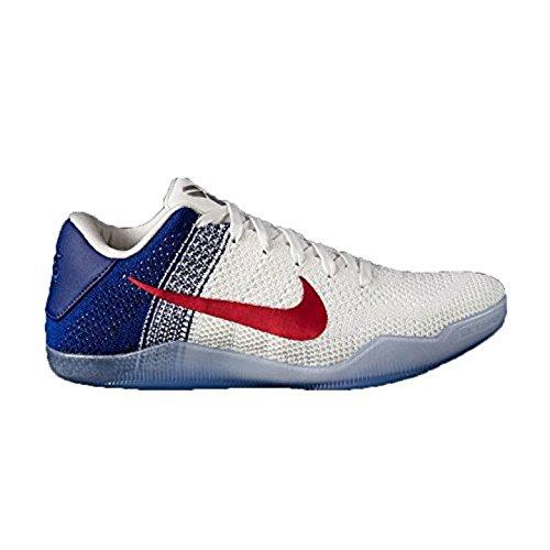 buy popular c10d5 85919 Nike Kobe XI Elite Low, Chaussures de Basketball Homme, Blanc Rouge Bleu