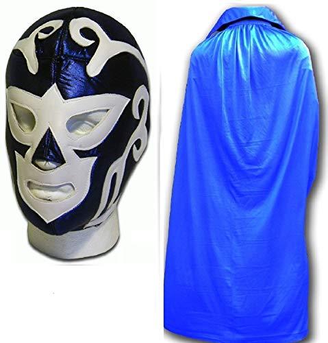 HURACAN RAMIREZ mexikanischen Wrestlers Erwachsene Mexican Wrestling Maske W/Blau Cape - Wrestling-cape Mexikanische