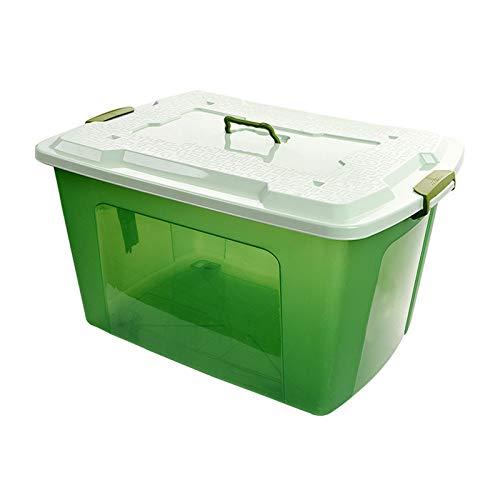 LACMY Aufbewahrungsbox Kunststoff extra groß 250l Haushalt Verdickung Finishing Box Kleidung Quilt transparent Umsatz Aufbewahrungsbox (Rubbermaid-box)