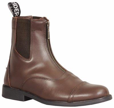 TuffRider Damen Barock vorne Zip Paddock Stiefel mit Metall Reißverschluss 5 Mokka (Reiten, Stiefel Paddock)