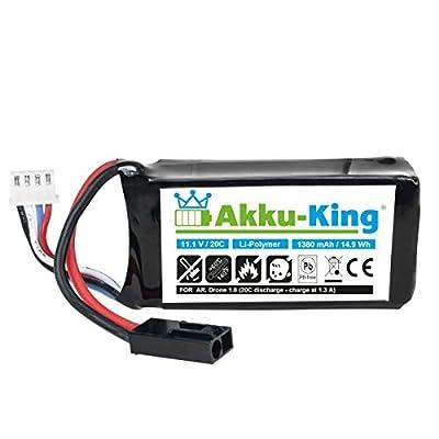 Parentartikel - Akku-King Akku für Parrot AR.Drone 1.0, AR Drone 2.0, Quadrocopter - Li-Polymer von Akku-King