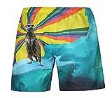 Manadlian Herren Freizeit Shorts Hose Mehrfarbig Men Kleidung Casual Jogger Sommer Beiläufig Übergröße 3D Tier Gedruckt Strand Hosen Strandshorts