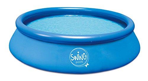 Ambientehome Quick Up Easy Piscina sobre Suelo Incluye Bomba de Filtro, Azul, 366x 366x 91cm...