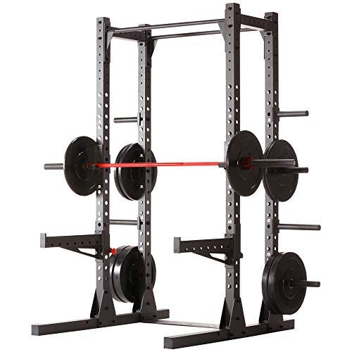 Iconiq Rack CF 400 Multifunktionales, Freistehendes Rack, Ideal Für Crosstraining, Calisthenics Und Training Mit Dem Eigenen Körpergewicht - Integrierte Squat- Klimmzugstation