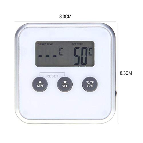 KHKJ Digital Oven Thermometers Wireless Food Cooking BBQ Thermometer LCD Barbecue Timer Probe Temperature Kitchen Cooking Tools (Thermometer-timer Cooking Digitale)