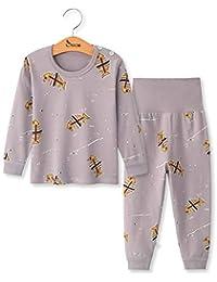 DOTBUY Conjuntos de Pijama para Bebés Niños Niña, Bebés Unisex 2PC Manga Larga Top Pantalones