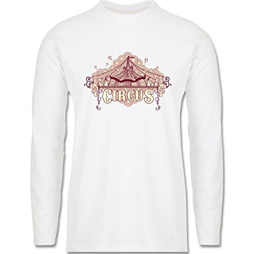 Statement Shirts - Circus - Longsleeve / langärmeliges T-Shirt für Herren Weiß