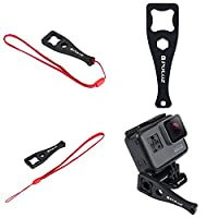 Fone-Stuff Thumbscrew Wrench Spanner for GoPro, PuluzŽ - Tightening Tool Knob Bolt Nut Key Button + Lanyard Accessory for GoPro Fusion HERO 6 HERO 5 4 Session HERO 3+ 3 and Sports Action Cameras