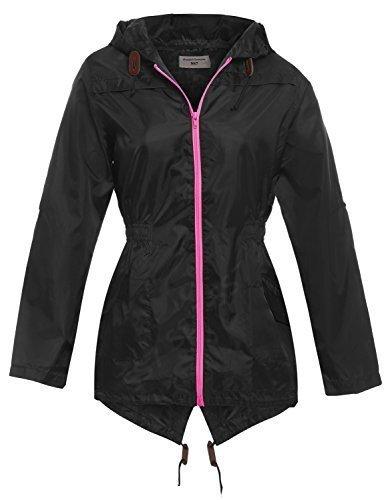 SS7 Femmes Imperméable Veste de pluie, Tailles 12 pour 20 Noir